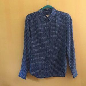 100% silk shirt JCrew